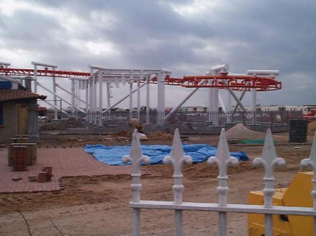 Brake run track section complete - Jubilee Odyssey Construction