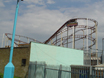 Storm roller coaster used to be located where Rockin' Roller now stands at Botton's Pleasure Beach, Skegness